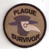 Plague Survivor Merit Badge Patch by StoriedThreads on Etsy
