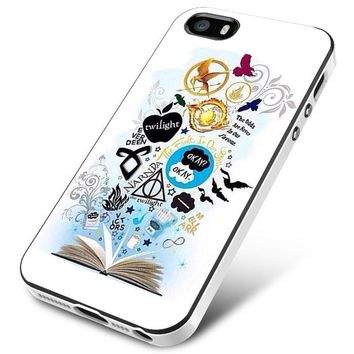Divergen Hunger Games Twilight and All Book Collage iPhone 5   5S   5SE Case Planetscase.com