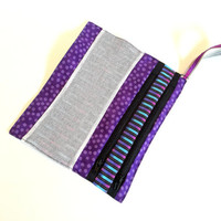 Gym Grips Bag - Purple Party -  Gymnast gift, stocking stuffer,  great as a toy bag, travel bag, purse organizer, mesh bag, grip bag