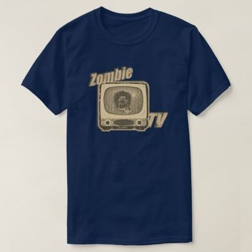 Zombie Retro TV- Sepia Tone T-Shirt