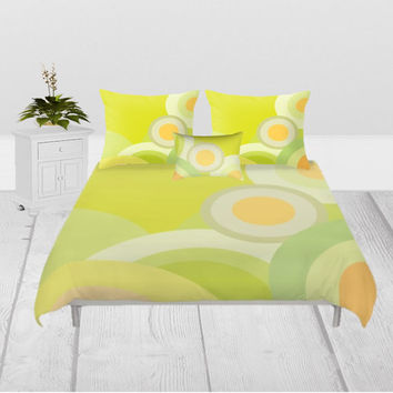 Duvet Cover - 3 sizes - For Full, Queen and King Size Duvet Inserts, Without, Inserts, Colors, Shams, Classic, Sunny, Summer, Yellow, Happy