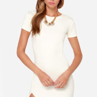 Got the Power Short Sleeve Ivory Dress
