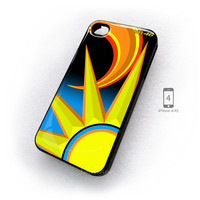 Valentino Rossi Vr46 Motogp Yamaha Sun And Moon iPhone 4/4s Case