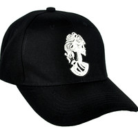 Lady of Death Skeleton Cameo Hat Baseball Cap True Blood