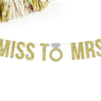 MISS TO MRS Party Banner