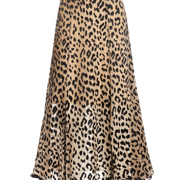 ATHENA MID LENGTH SKIRT WITH SLITS | Alice + Olivia