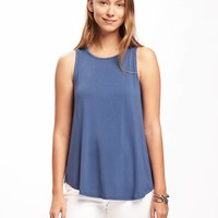 Luxe High-Neck Swing Tank for Women | Old Navy