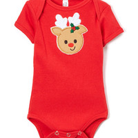 Red Reindeer Bodysuit - Infant