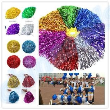 200pcs 50g Modish Cheer Dance Supplies Competition Cheerleading Pom Poms Flower Ball Lighting Up Party Cheering Fancy Pom Poms