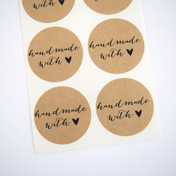 Handmade with Love Stickers Calligraphy Font