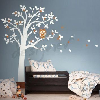 Wall Sticker Decal Art  Hooting Owl on by designedDESIGNER on Etsy
