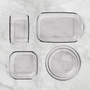Fire King 4-Piece Glass Bakeware Set