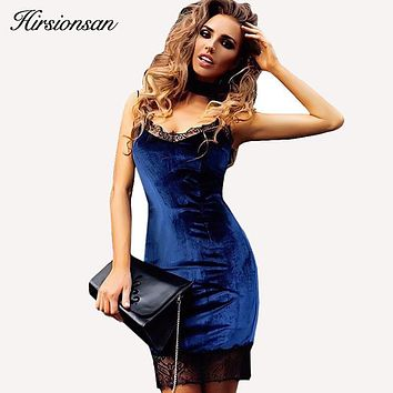 Women Velvet Dress Lace Patchwork Long Sleeve/strap Evening Party Dress Sexy Female Spring Summer Bodycon Robe Velour Dresses