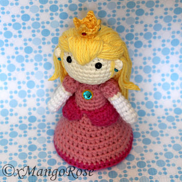 Princess Peach Amigurumi Doll Plush (Crochet Pattern Only, Instant Digital Download) Princess Toadstool