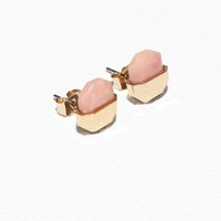 & Other Stories | Stone Stud Earrings | Light Pink