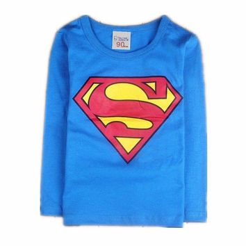 Children Kids Superman Baby Boys T Shirts For Summer Children