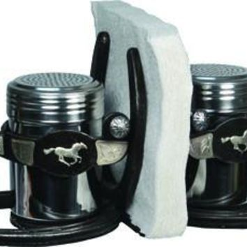 Salt & Pepper Shaker Set - Deluxe Metal Spur Napkin Holder Set