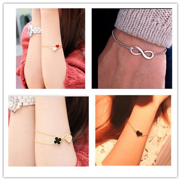New Cheap Official Infinity Heart Bracelet For Women Jewelry Accessories