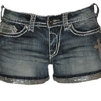 NEW Cowgirl Tuff Crosses Shimmer Short SHCROS