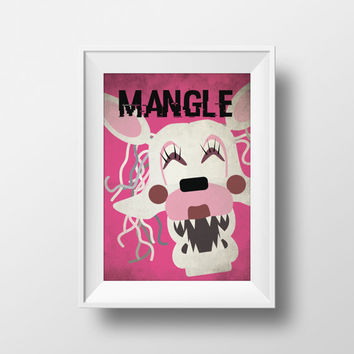 Five Nights at Freddy's Mangle Printable Wall Art