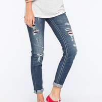 Miss Me Ripped & Cuffed Womens Skinny Jeans Medium Blast  In Sizes