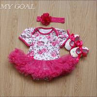 Christmas Infant Girl Rompers Dress Baby Girls Clothes Sets 3pcs Newborn Cotton Jumpsuit Clothes