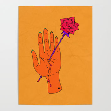 Wounded Hand - Golden yellow Poster by duckyb