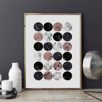 Marble Little Circles Poster, Abstract Art, Home Decor, Wall Art, Geometric Print, Modern Artwork, Abstract Print, Modern Wall Art.
