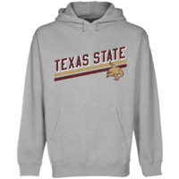 Texas State Bobcats Rising Bar Pullover Hoodie - Ash-