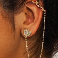 Heart-You-Cuff-Earring-Set GOLD - GoJane.com