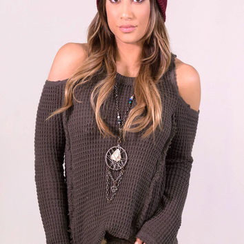 Elan Peek-A-Boo Shoulder Sweater