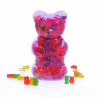 Dylan's Candy Bar Filled Gummy Bear Container - Purple