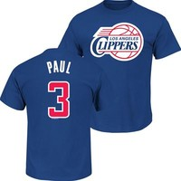 Fanzz Sports Apparel,Los Angeles Clippers NBA Chris Paul #3 Youth Name & Number T-Shirt (Blue) NFL, NBA, MLB Apparel, NFL, MLB, NBA Jerseys and Merchandise, NHL Shop | Fanzz