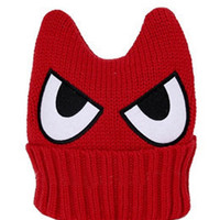 Red Eyes Horn Beanie