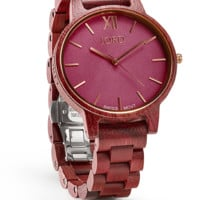 Frankie Purpleheart & Plum - Swiss Watch Movement by JORD