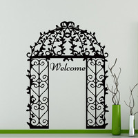 Wall Decals Welcome Decal Vinyl Sticker Arch Home Decor Bedroom Dorm Living Room Window Door Wedding Salon Ceremony Art Murals MN 335