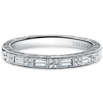 "Kirk Kara ""Charlotte"" Thin Diamond Baguette Wedding Band"