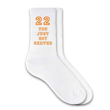 You Just Got Served - Personalized Volleyball Crew Socks