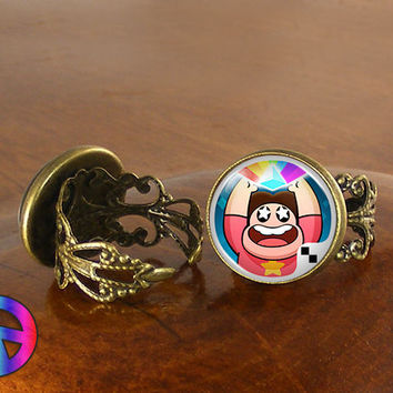 Steven Universe (1) Colorful Womens Girls Adjustable Ring Rings Jewelry Gift