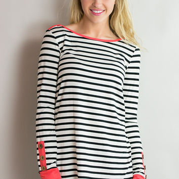 Sail Away Long Sleeve Striped Top
