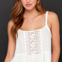 Fairy Trail Ivory Lace Crop Top