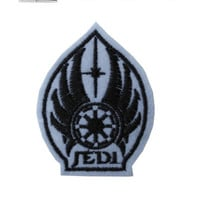 Jedi Shield STAR WARS Iron / Sew On Embroidered Patch Badge Embroidery Motif | eBay