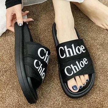 Chloe Fashion Women Casual Flat Sandal Slippers Shoes Black
