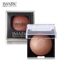 IMAGIC Women Bronzer Matte Shimmer Blush Palette Face Makeup Contouring Baked Cheek Powder Color Blusher PRO Paleta De Cosmetics