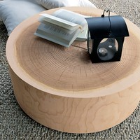 ROUND WOODEN COFFEE TABLE ECO | RIVA 1920