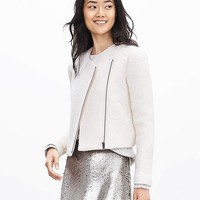 Banana Republic Boucle Zip Blazer