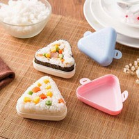LuxDream Sushi Maker Japanese Onigiri triangle Bento Box Kitchen Accessories DIY Rice Ball mold Nori Sushi Tools 2pcs/Set