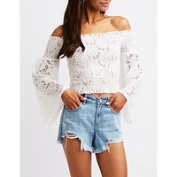 Floral Off The Shoulder Top | Charlotte Russe