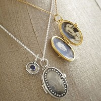Engravable Oval Locket Necklace - Sterling Silver