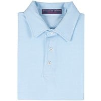 The Tucker Men's Performance Polo Pool/White